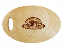 Oval Wooden Chopping Board in Beech Wood
