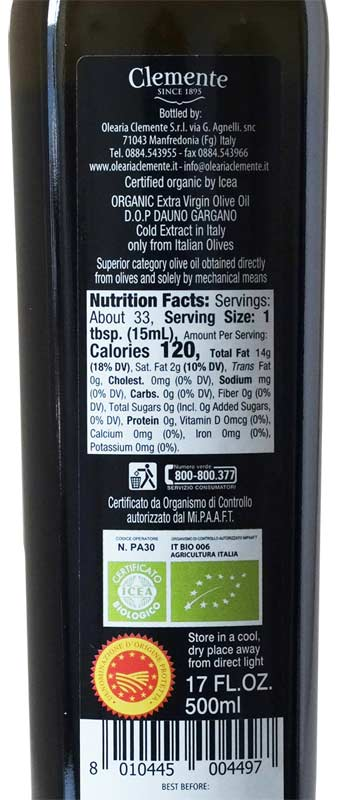 Clemente Extra Virgin Olive Oil D O P 750ml Buy It Now