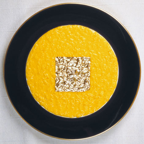 Edible Gold Leaf Saffron Risotto | Risotto | Italian Food Recipes