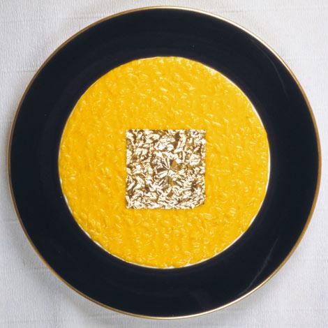 Edible Gold Leaf Saffron Risotto | Appetizer | Italian Food Recipes
