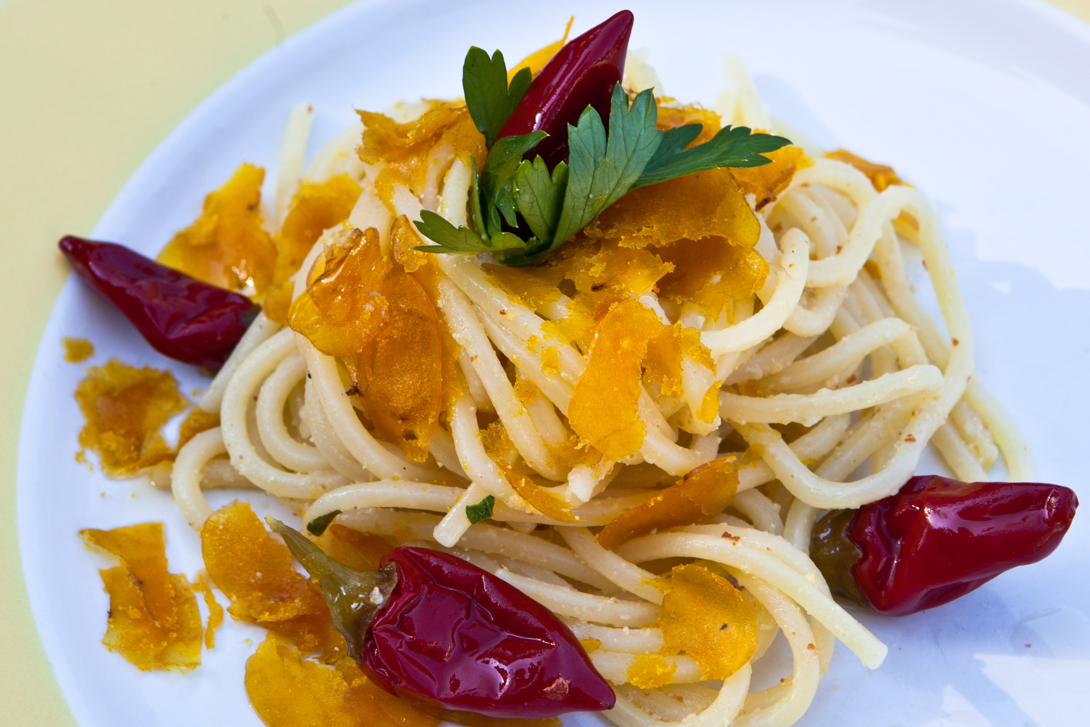 Bottarga Spaghetti Chitarra and Hot Calabrian Chile | Appetizer ...